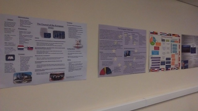 EU posters by the students